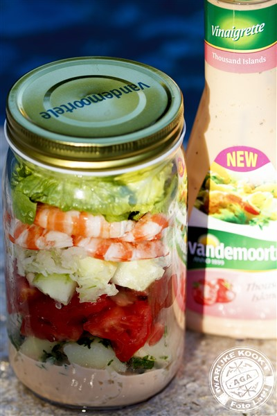 Salad in a Jar - Tomaat garnaal