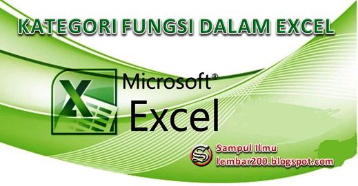 Kategori Fungsi dalam Excel