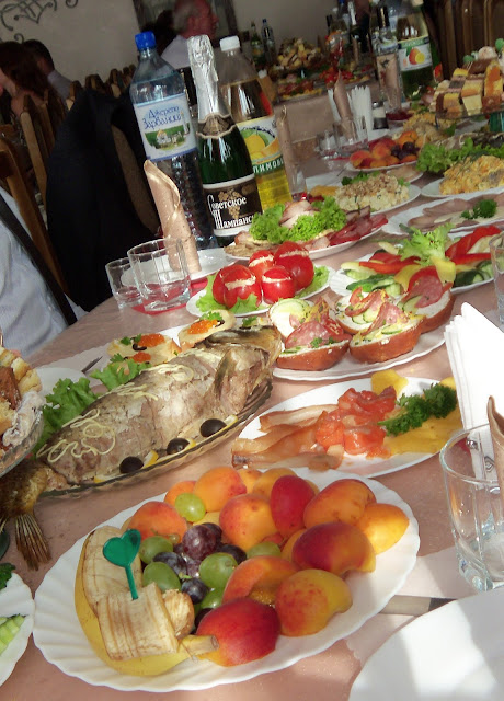 Ukrainian wedding table