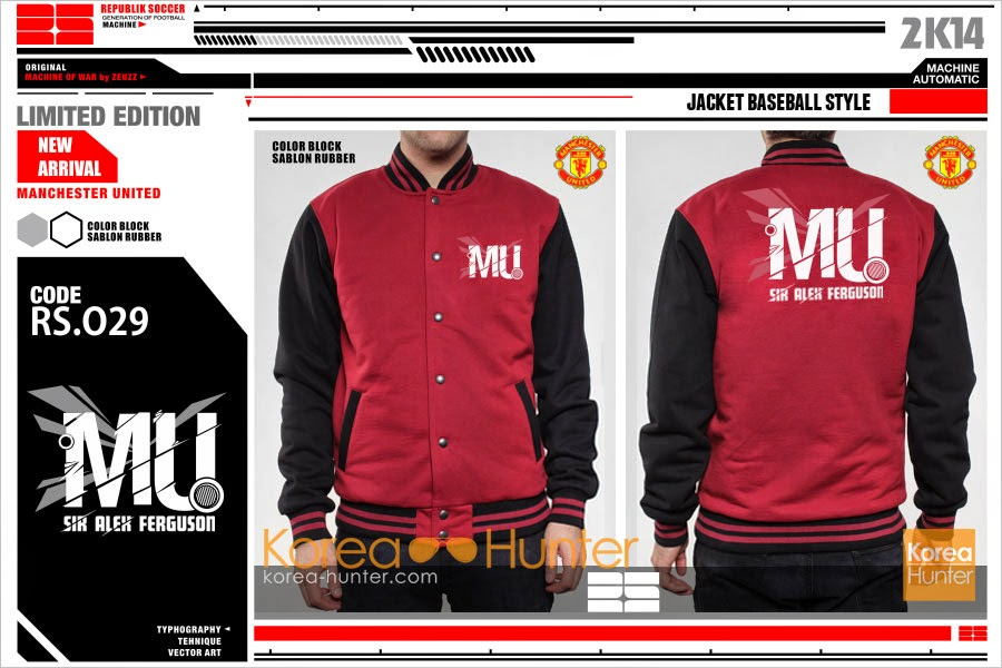 KOREA-HUNTER.com jual murah Soccer Club Jacket - Manchester United | kaos crows zero tfoa | kemeja national geographic | tas denim korean style blazer