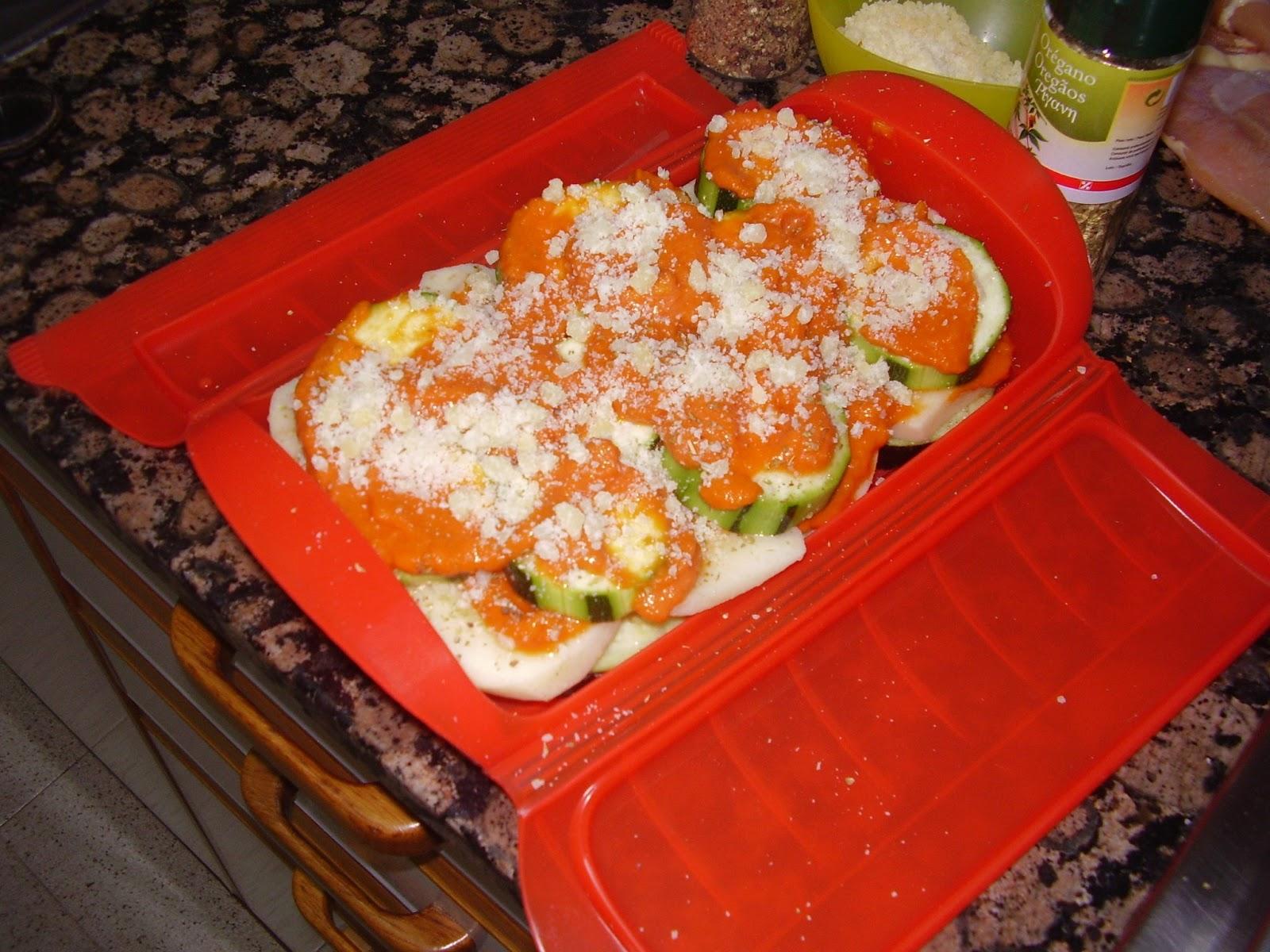 La cocina de marineus timbal de verduras al vapor en for Comidas hechas en microondas