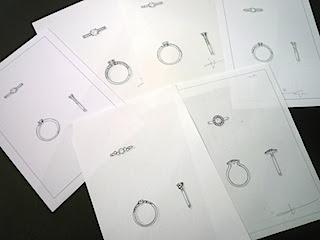 銀座オーダージュエリーサロンでは丁寧にデザインを相談できる。