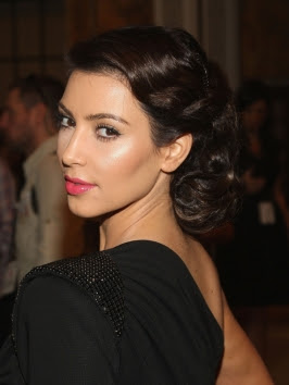 Kim Kardashian Wedding Hairstyles