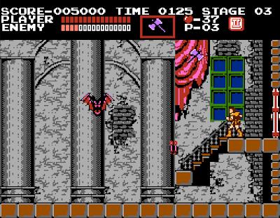 The Bat, le boss chauve-souris dans castlevania sur nes