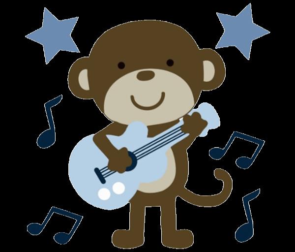 Rockstar Monkey Baby Shower Decorations
