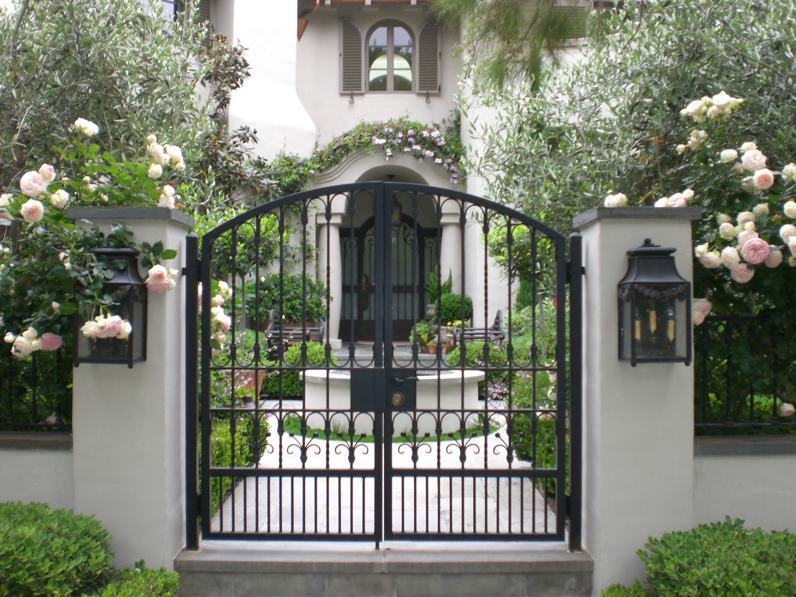 Rincon exteriors on pinterest spanish style spanish for Courtyard driveway house plans