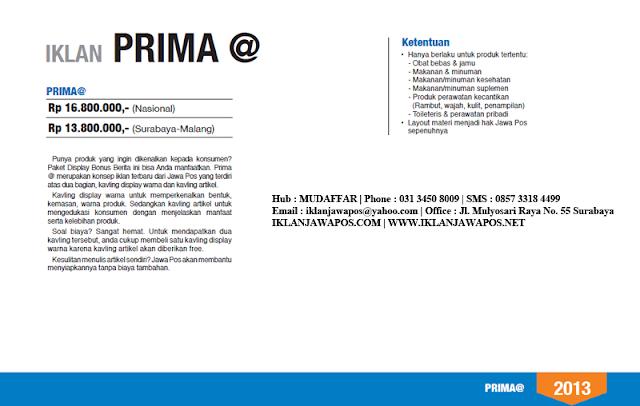 Jawa Pos Iklan Prima Ad @ (Promosi Produk) 2013