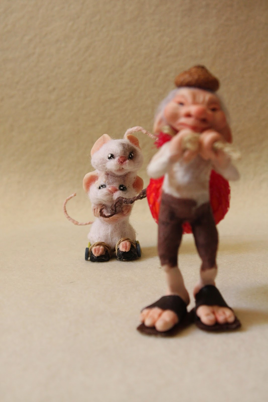 "ooak mice mouse topo topi elf elfo gnomo prosculpt ""living doll"" miniatura"