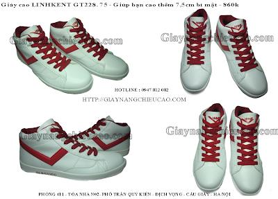 Giày nam tăng chiều cao GT228. 75