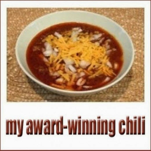 my award winning chili in a bowl