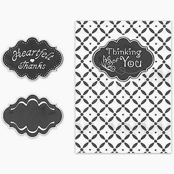 Spellbinders Interchangeable Embossing Folder XOXO SBIF-007