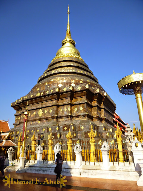 Chedi of Lampang Temple in Lampang, Thailand