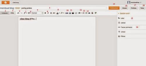 cara membuat (menulis) artikel (konten) pada blog blogspot dengan mudah