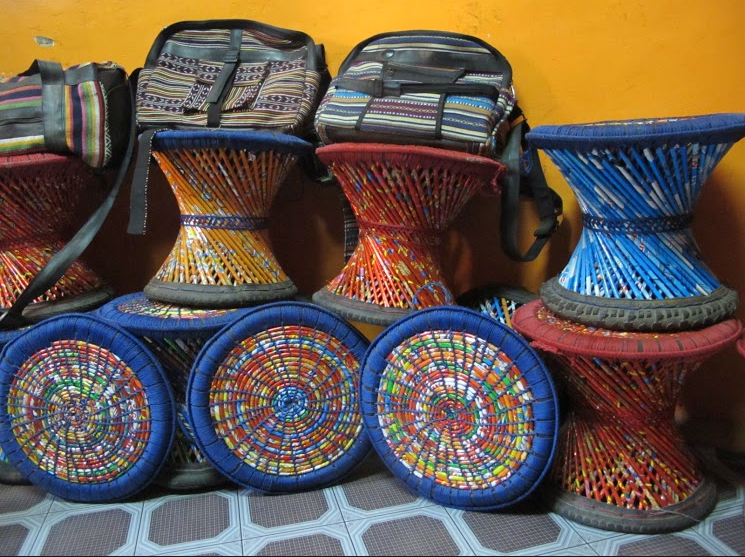 Beni recycled handicrafts from nepal for Handicrafts from waste