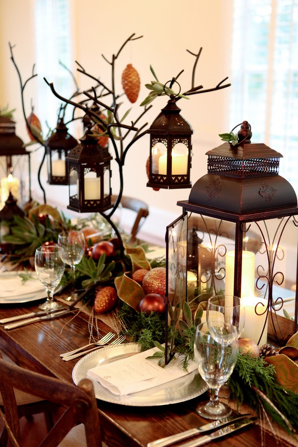 lantern table setting