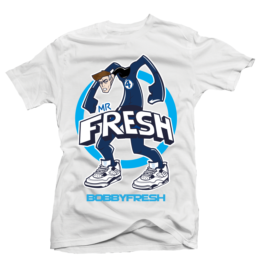 """Mr Fresh"" Fantastic Four x Air Jordan T-Shirt by Bobby Fresh"