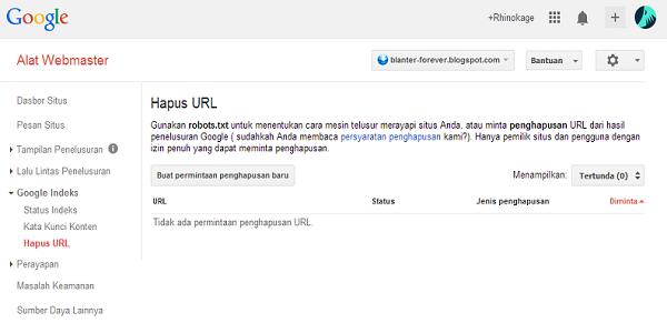 Hapus URL