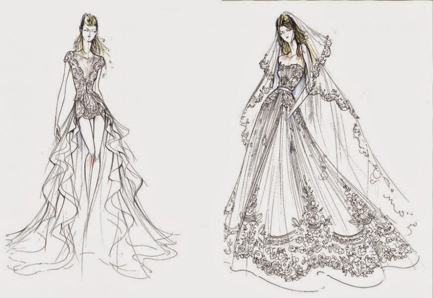 abiti da sposa vip, abito sposa elena santarelli, alberta ferretti