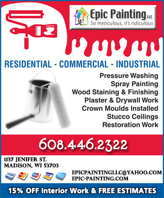 ***Donu0027t Forget To Remind Them About Your 15%OFF Coupon When You Call.Only  From Madison Wisconsinu0027s Most Respected Painter: ...