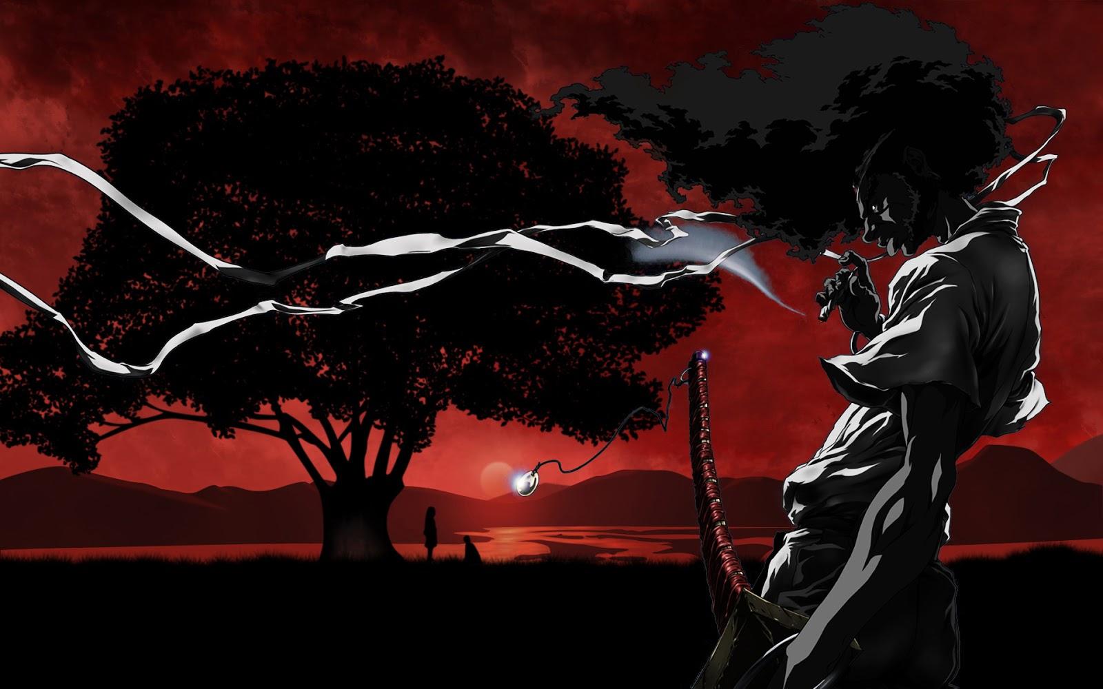 Dan ini dia wallpaper dari Afro Samurai :