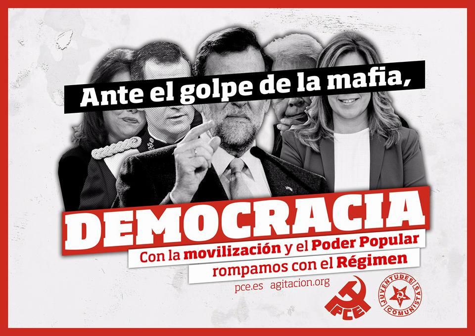 Ante el golpe de la mafia, democracia con la movilización y el poder popular,
