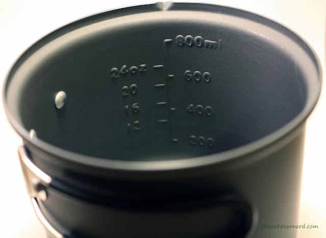 Esbit 5-Piece Trekking Cook Set - Markings On Big Pot