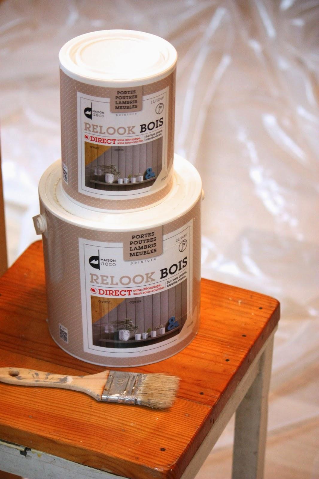 Un nouveau regard avant apr s d 39 une entr e en lambris avec les peintures - Peinture relook bois ...