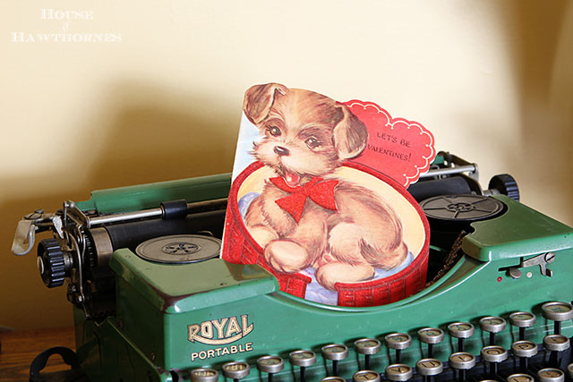Vintage valentines tucked into your home decor