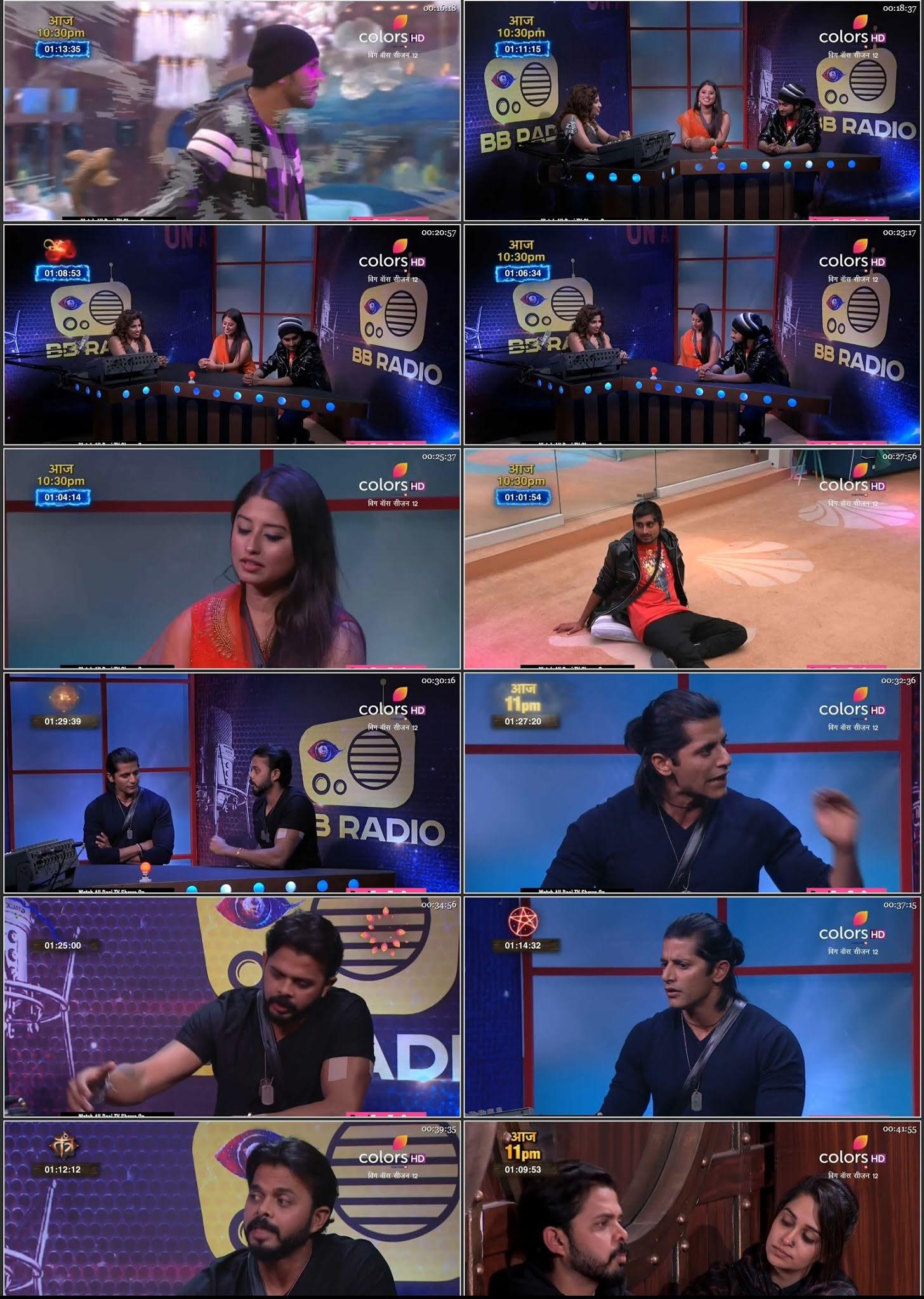 Screenshots Of Hindi Show Bigg Boss 12 20th December 2018 Episode 95 300MB 480P HD