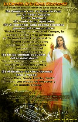 resa la coronilla a la divina misericordia
