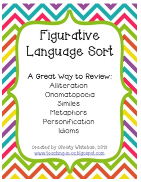 http://www.teacherspayteachers.com/Product/Figurative-Language-Sort-Review-or-Assess-7-Types-of-Figurative-Language-817043