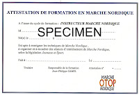 attestation de qualification marche nordique