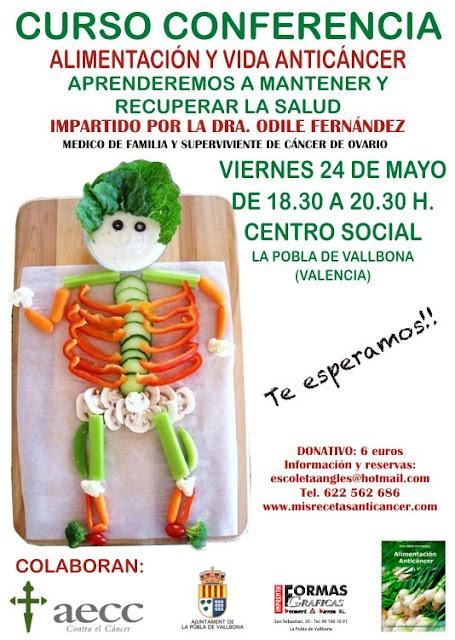 Curso Conferencia Alimentación y Vida Anticáncer. Dra. Odile Fernández