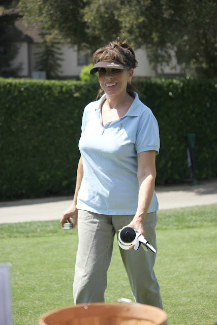 Kate Linder playing golf at The Academy of Television Arts & Sciences Foundation's 13th Annual Primetime Emmy® Celebrity Tee-Off, played at Oakmont Country Club in Glendale, CA (September 10, 2012).