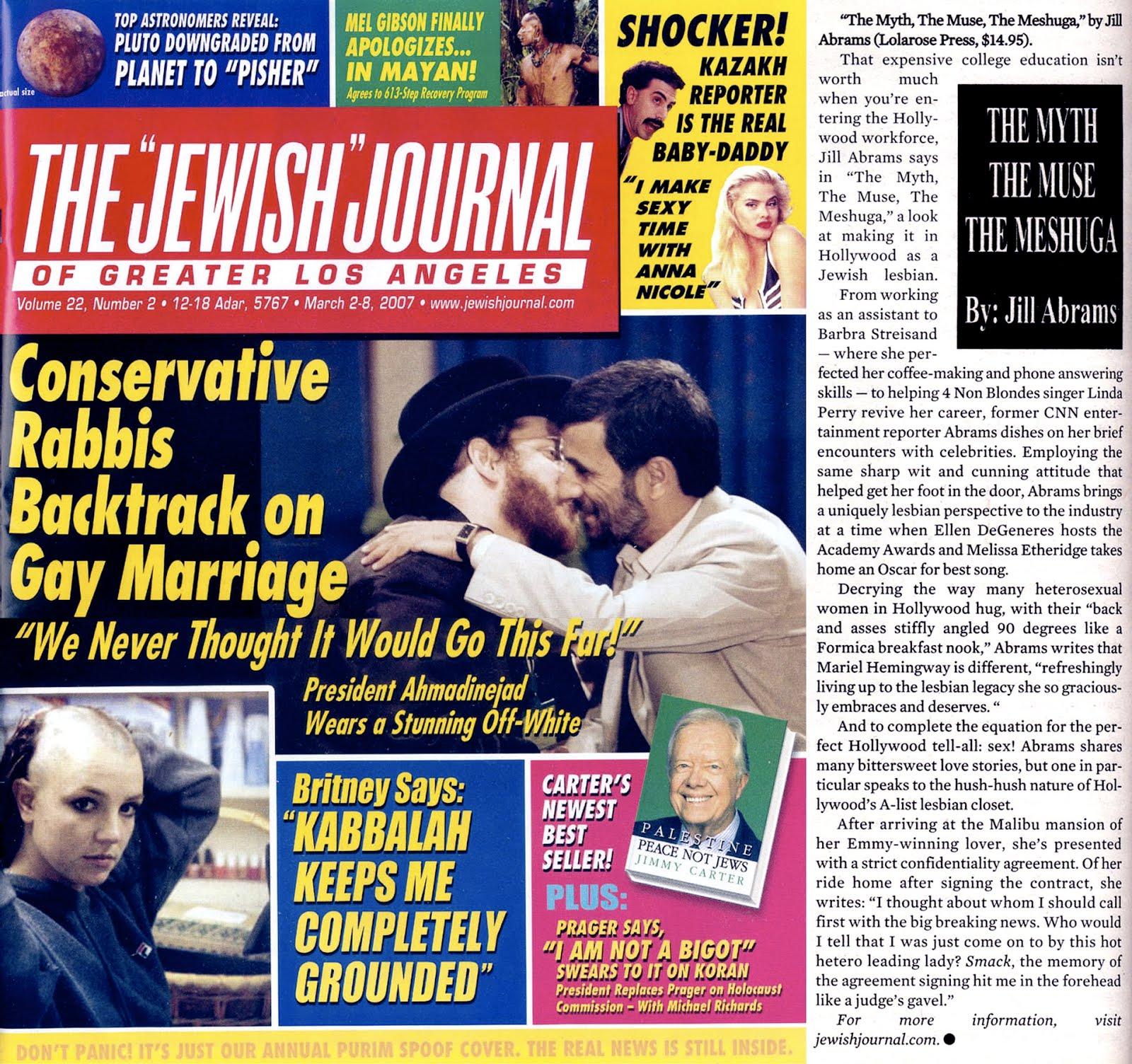 JEWISH JOURNAL ~ 2007
