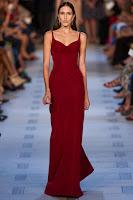 дълга рокля бургундско червено, Zac Posen
