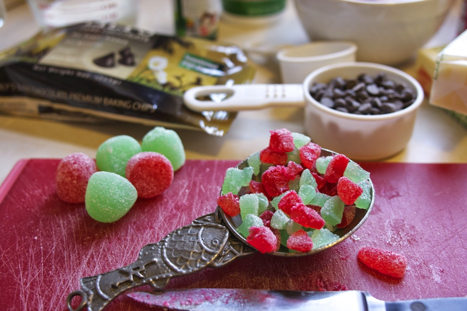 chopped gummy candy: simplelivingeating.com