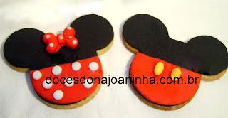 Cookies decorados Mickey e Minie