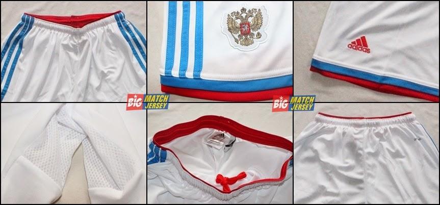 Detail Shorts atau Clana Bola Grade OIrigina Timnas Russia Away Piala dunia 2014