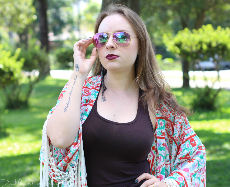 look do dia kimono com franjas