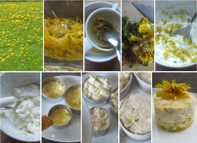Zubereitung Löwenzahn-Joghurt-Portionstörtchen