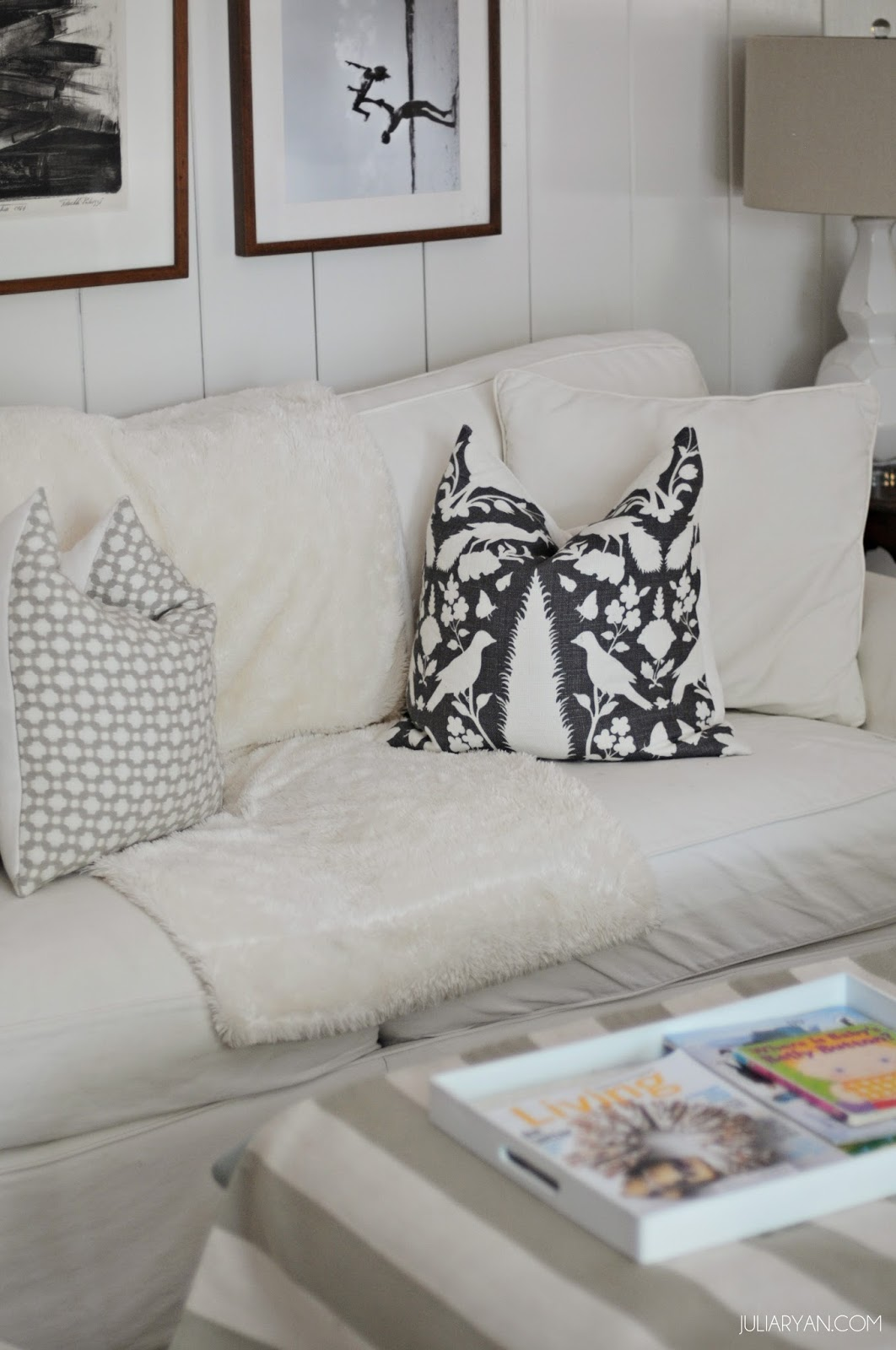 Keeping White Sofas Clean With Kids | JULIA RYAN
