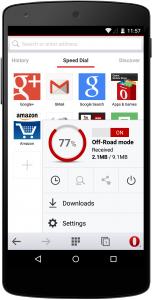 Cara Berbagi Bookmarks Opera di Android 2