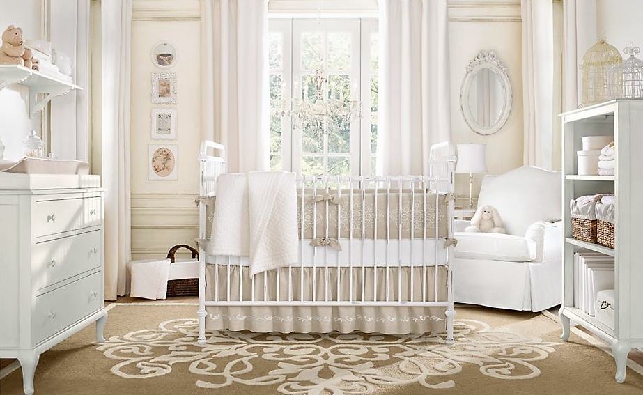 Interior design neutral color baby room for Neutral lounge decorating ideas