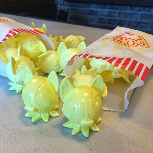 "3DRetro Instagram Exclusive ""Popcorn Yellow"" Octopup Vinyl Figure by Nathan Hamill"