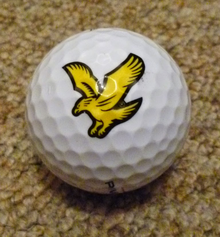 A ball given to people who played the Lyle & Scott 'Wooly Golf' course in Covent Garden, London in 2012