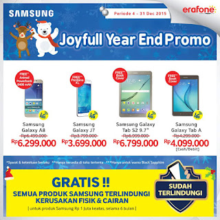 Joyful Year End Promo Samsung Galaxy 4G Smartphone dan Tablet di Erafone