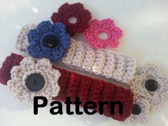Red Heart Free Pattern Lw2254 Crochet Flower Headband : Crochet Flower Headband Crochet Pattern Red Heart Tattoo ...