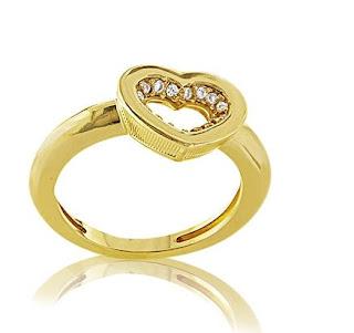 anel folheado a ouro
