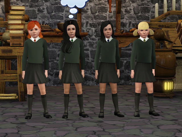 My Sims 3 Blog Hogwarts Uniforms For Teens And Children
